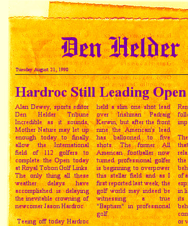 Hardroc leading Open in 1990