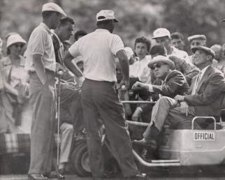 Palmer at 1958 Masters asking for a ruling