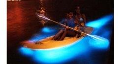 Two girls in kayak on Bio-Bay