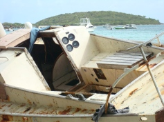 Shipwreck just below the Malecon in Vieques Island