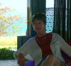 "Margo reclining at the ""W"" Resort"