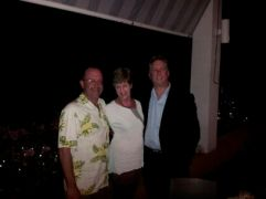 Author, Margo and Tom in Vieques Island, PR 2013