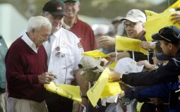 Even into his eighties Arnold Palmer is a huge draw at Augusta National
