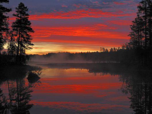 6389-spectacular-sunrise-moss-lake,-dalarna-sweden-wall