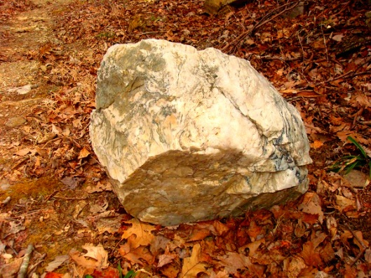 I want this rock! Now to figure out a way to bring it down the mountain. Estimated at around 200 lbs.