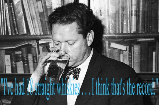 Dylan Thomas after the very last drink of his life