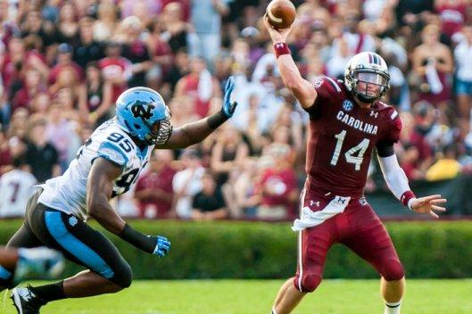 NCAA Football: North Carolina at South Carolina
