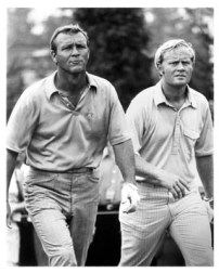 My favorite photo of the two greatest rivals in the history of the PGA