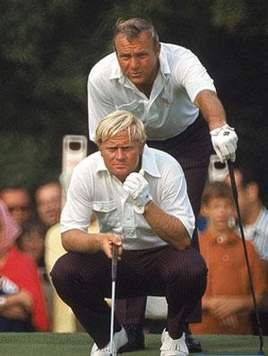 Another favorite of the two men in one of the 1960's Ryder Cup Matches in which they teamed together to be unstoppable.