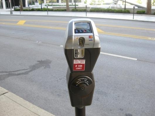Time left on a parking meter