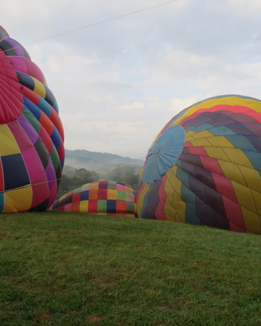 THese balloons really are very beautiful up close as well as flying overhead.