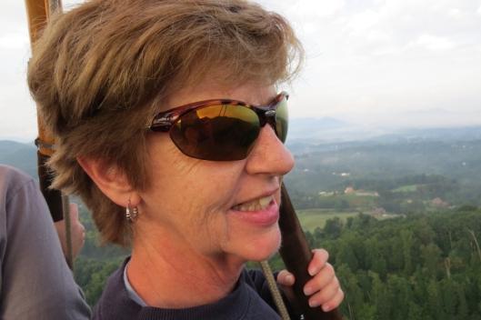 Margo @ 1500 feet . . . and loving it!