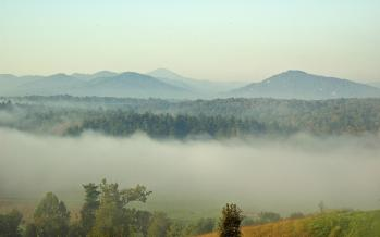 The Blue Ridge Smoky Mountains right outside my doorstep in Asheville, North Carolina