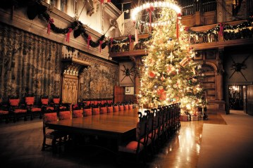 Christmas banquet hall at Biltmore House in Asheville, NC